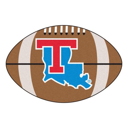 "20.5"" x 32.5"" Brown and Blue NCAA Louisiana Tech University Tigers Mat Area Rug - IMAGE 1"