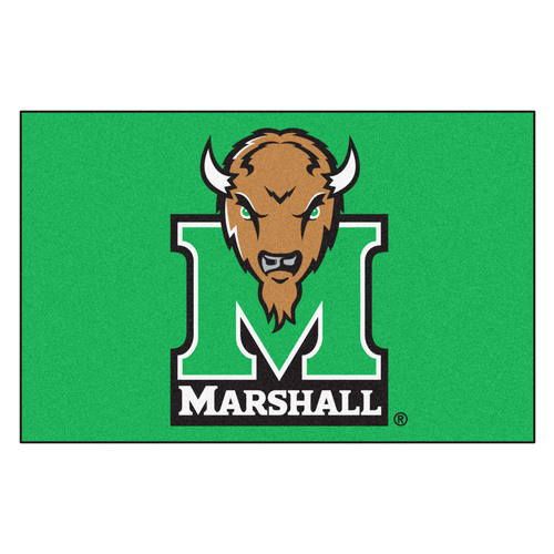 Fan Mats 13221 Marshall University Thundering Herd 14 x 17 Utility Mats 2 per Package