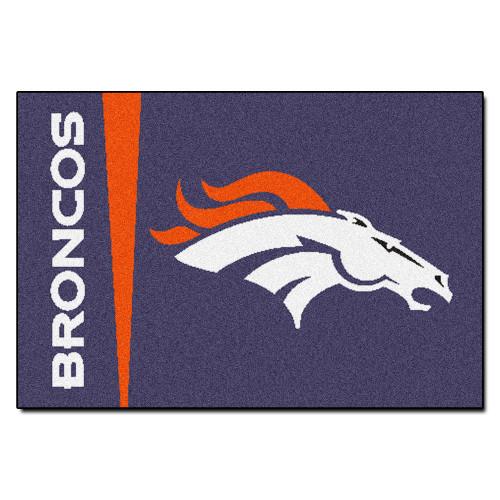 """19"""" x 30"""" Purple and Orange NFL Denver Broncos Starter Rectangular Door Mat - IMAGE 1"""