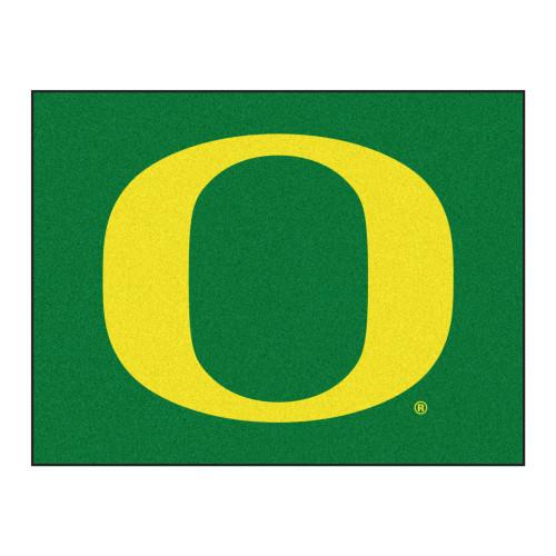 "33.75"" x 42.5"" Green NCAA University of Oregon Ducks All Star Non-Skid Mat Rectangular Area Rug - IMAGE 1"