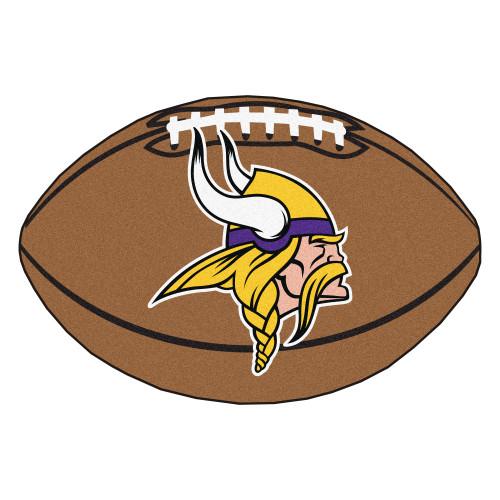 "20.5"" x 32.5"" Brown and Yellow NFL Minnesota Vikings Football Shape Mat - IMAGE 1"