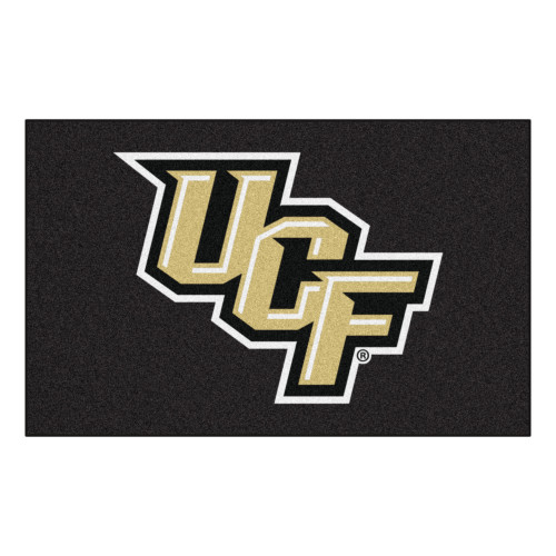 5' x 8' Black and Beige NCAA University of Central Florida Knights Rectangular Outdoor Area Rug - IMAGE 1