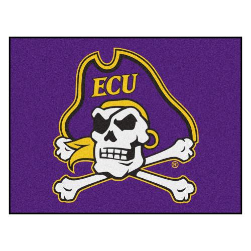 "33.75"" x 42.5"" Purple NCAA East Carolina University Pirates Rectangular Mat - IMAGE 1"