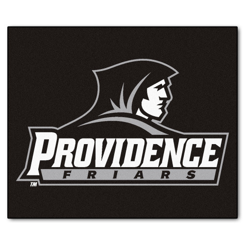 5' x 6' Black and White NCAA Providence College Friars Tailgater Mat Rectangular Outdoor Area Rug - IMAGE 1