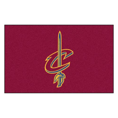 """59.5"""" x 94.5"""" Red and Blue NBA Cleveland Cavaliers Ulti-Mat Rectangular Outdoor Area Rug - IMAGE 1"""
