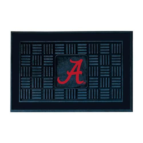 "19.5"" x 31.25"" Black and Red NCAA University of Alabama Crimson Tide Team Medallion Outdoor Door Mat - IMAGE 1"