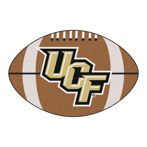 """20.5"""" x 32.5"""" Brown and Beige Contemporary NCAA University of Central Florida Knights Football Mat - IMAGE 1"""