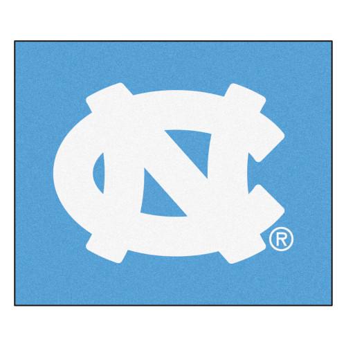 "59.5"" x 71"" Blue and White NCAA University of North Carolina Chapel Hill Tar Heels Tailgater Rug - IMAGE 1"