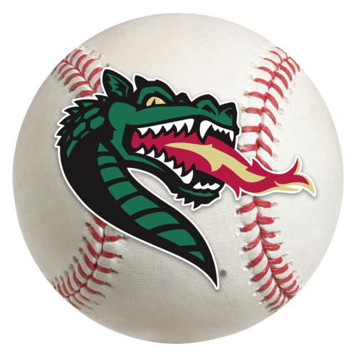 "27"" Gray and Green NCAA University of Alabama at Birmingham Blazers Baseball Shaped Area Rug - IMAGE 1"