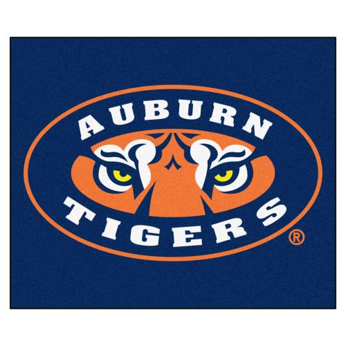 "59.5"" x 71"" Blue and Orange NCAA Auburn University Tigers Tailgater Outdoor Area Rug - IMAGE 1"