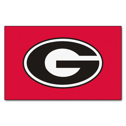 "4.75"" x 7.75"" Black and White NCAA University of Georgia Bulldogs Ulti-Mat Rectangular Area Rug - IMAGE 1"