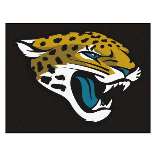 "33.75"" x 42.5"" Black and Yellow NFL Jacksonville Jaguars Rectangular Mat - IMAGE 1"