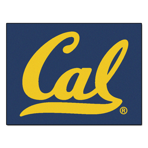 "33.75"" x 42.5"" Blue and Yellow NCAA Berkeley Golden Bears All Star Non-Skid Mat Rectangular Area Rug - IMAGE 1"