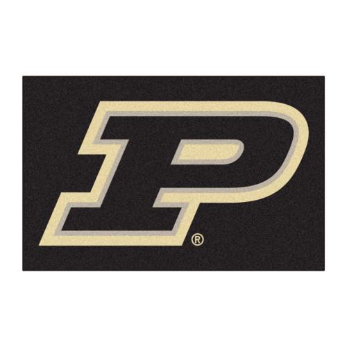 "19"" x 30"" Black NCAA Purdue University Boilermakers Starter Mat - IMAGE 1"