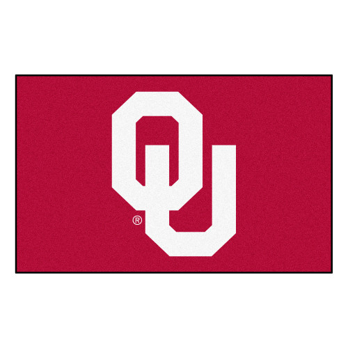"""59.5"""" x 94.5"""" Red and White NCAA University of Oklahoma Sooners Ulti-Mat Area Rug - IMAGE 1"""