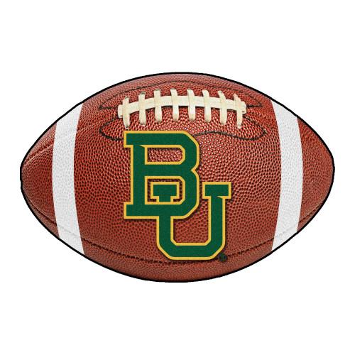 "20.5"" x 32.5"" Brown and Green NCAA Baylor University Bears Football Mat Area Rug - IMAGE 1"