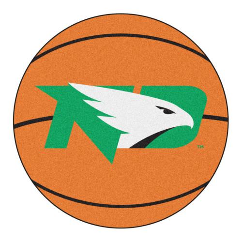 "27"" Orange and Green NCAA University of North Dakota Fighting Hawks Basketball Mat Area Rug - IMAGE 1"