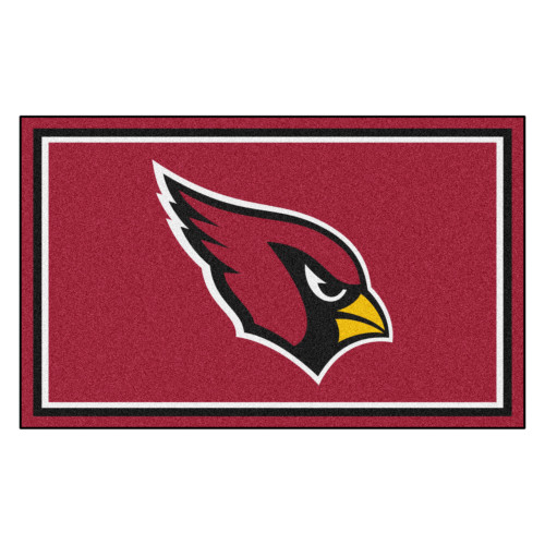 """44"""" x 71"""" Red and Black NFL Arizona Cardinals Non-Skid Area Rug - IMAGE 1"""
