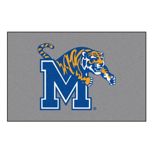 """19"""" x 30"""" Blue NCAA University of Memphis Tigers Starter Door Mat - IMAGE 1"""