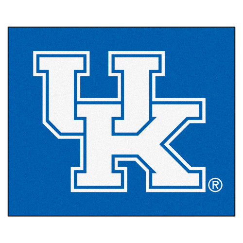 """59.5"""" x 71"""" Blue and White NCAA University of Kentucky Wildcats Tailgater Area Rug - IMAGE 1"""