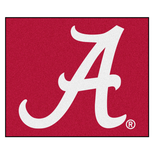 """59.5"""" x 71"""" Red and White NCAA University of Alabama Crimson Tide Tailgater Area Rug - IMAGE 1"""