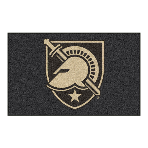 5' x 8' Black and Beige Contemporary U.S. Military Academy Rectangular Outdoor Area Rug - IMAGE 1