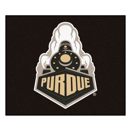 4.9' x 5.9' Black and White NCAA Purdue University Boilermakers Mat Area Rug - IMAGE 1