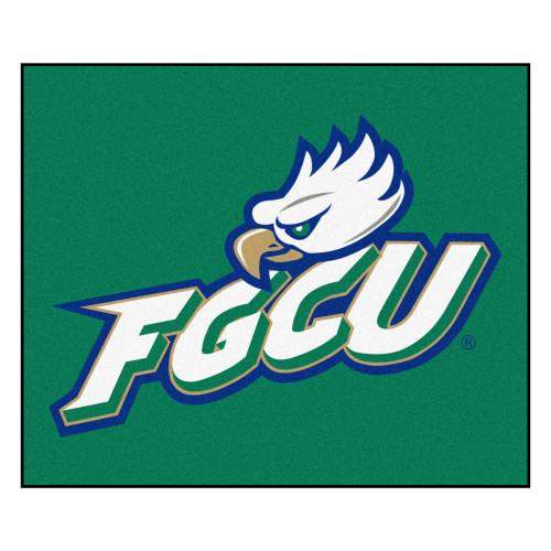 4.9' x 5.9' Green and White NCAA Florida Gulf Coast University Eagles Tailgater Mat Area Rug - IMAGE 1