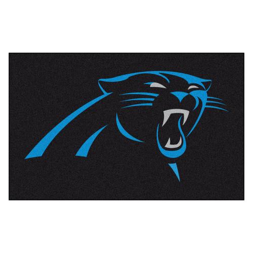 """59.5"""" x 94.5"""" Black and Blue NFL Carolina Panthers Ulti Mat Rectangular Outdoor Area Rug - IMAGE 1"""