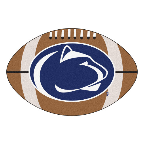 """20.5"""" x 32.5"""" Brown and Blue Contemporary NCAA Penn State Nittany Lions Football Mat - IMAGE 1"""