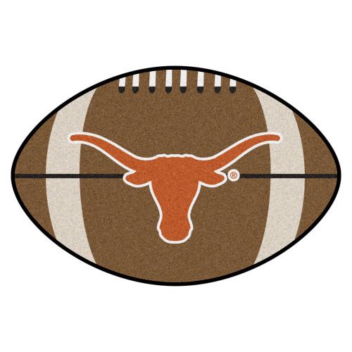 "20.5"" x 32.5"" Brown and Orange Contemporary NCAA University of Texas Longhorns Football Mat - IMAGE 1"