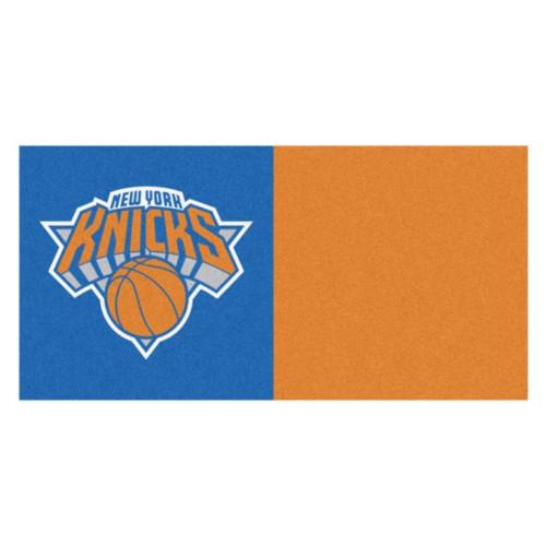"""20pc Blue and Orange NBA New York Knicks Square Carpet Tiles Set 18"""" x 18"""" - IMAGE 1"""