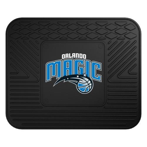 "14"" x 17"" Black and Blue NBA Orlando Magic Heavy Duty Rear Car Seat Utility Mat - IMAGE 1"