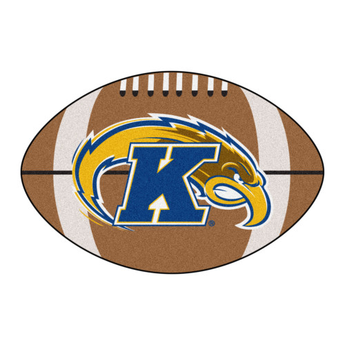 """20.5"""" x 32.5"""" Blue and Yellow NCAA Kent State University Golden Flashes Football Mat Area Rug - IMAGE 1"""