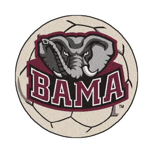 "27"" Brown NCAA University of Alabama Crimson Tide Soccer Ball Mat - IMAGE 1"