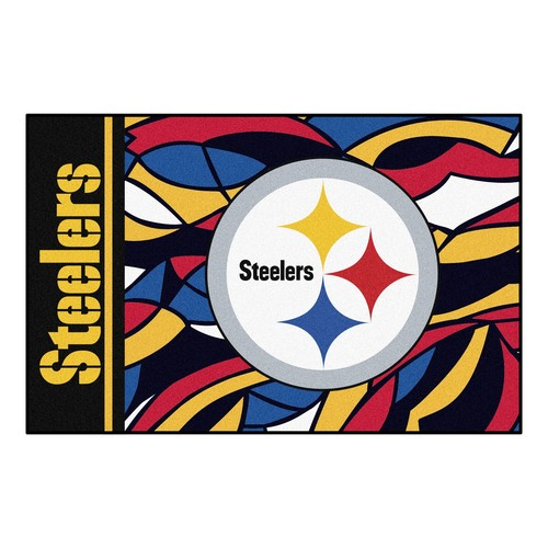 """19"""" x 30"""" Vibrantly Colored NFL Pittsburgh Steelers Starter Rectangular Mat - IMAGE 1"""