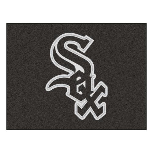 "33.75"" x 42.5"" Black and White MLB Chicago White Sox All Star Mat Rectangular Area Rug - IMAGE 1"