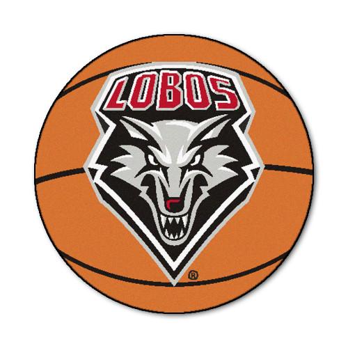 "27"" Orange and Black NCAA University of New Mexico Lobos Basketball Mat Area Rug - IMAGE 1"
