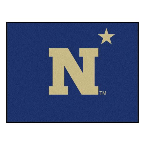 "33.75"" x 42.5"" Blue NCAA Navy Midshipmen Rectangular All-Star Mat Outdoor Area Rug - IMAGE 1"