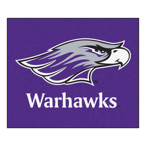 "59.5"" x 71"" Purple and White NCAA University of Wisconsin Whitewater Warhawks Tailgater Rectangular Outdoor Mat - IMAGE 1"