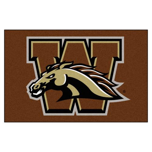 "19"" x 30"" Brown and White NCAA Western Michigan University Broncos Starter Mat - IMAGE 1"