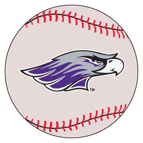 "27"" White and Purple NCAA University of Wisconsin-Whitewater Warhawks Spherical Mat - IMAGE 1"