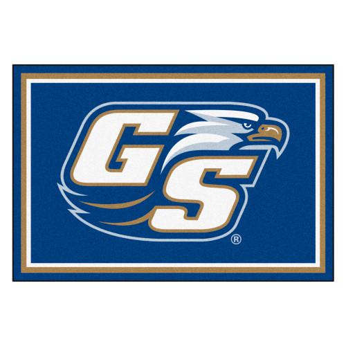 "59.5"" x 88"" Blue NCAA Georgia Southern University Eagles Mat Area Rug - IMAGE 1"