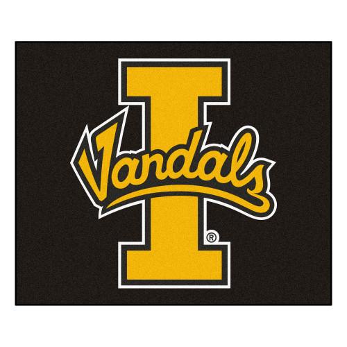 5' x 6' Black and Yellow NCAA University of Idaho Vandals Tailgater Mat Rectangular Outdoor Area Rug - IMAGE 1