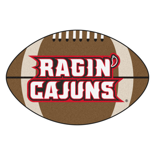 "20.5"" x 32.5"" Brown NCAA University of Louisiana-Lafayette Ragin Cajuns Mat Area Rug - IMAGE 1"