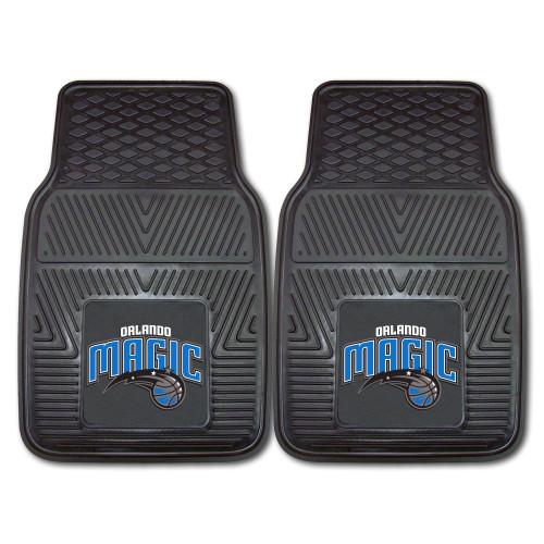 "Set of 2 Black and Blue NBA Orlando Magic Car Mats 17"" x 27"" - IMAGE 1"