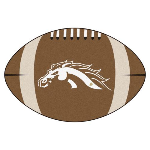 "20.5"" x 32.5"" Brown NCAA Western Michigan University Broncos Football Mat - IMAGE 1"