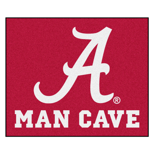 """59.5"""" x 71"""" Red and White NCAA University of Alabama Crimson Tide Outdoor Tailgater Area Rug - IMAGE 1"""