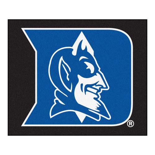 4.9' x 5.9' Black and Blue NCAA Duke University Blue Devils Tailgater Mat Area Rug - IMAGE 1