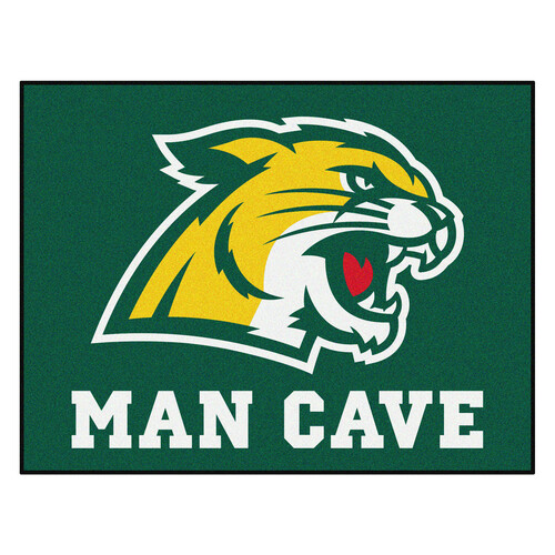 "33.75"" x 42.5"" Green and Yellow NCAA Northern Michigan University Wildcats Man Cave Door Mat - IMAGE 1"